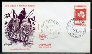 FRENCH SOUTHERN ANTARCTIC TERRITORIES SCOTT#45 FIRST DAY COVER