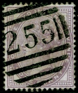 SG171, 1d pale lilac 14 DOTS, USED. Cat £45.