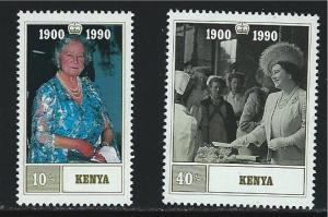 Kenya SC527-528 Queen Mother-90th Birthday