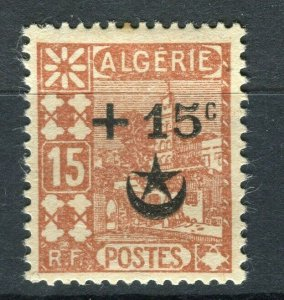 FRENCH; ALGERIA 1927 Wounded Soldiers issue fine Mint hinged 15c. value