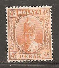 Malaya Perak  SC   86   Mint Lightly Hinged