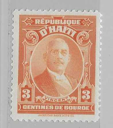 Haiti 325 3c President Vincent single MNH