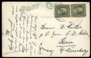 China 1910 US Post Office SHANGHAI 1c Franklin Stein Germany Hawaii Girl 90528
