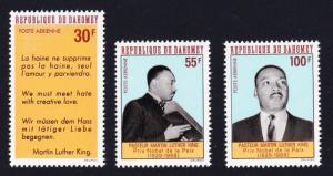 Dahomey Martin Luther King Commemoration 3v SG#328-330 SC#C71-C73