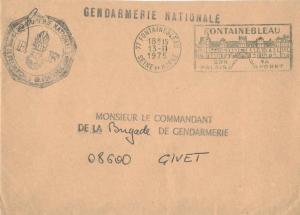 France Military Free Mail 1975 77 Fontainebleau, Seine et Marne Son Palais Sa...