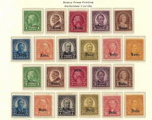 U.S Kans. Nebr. Mint/MNH F+ SCV$842.00 Full Set (KN-1016)