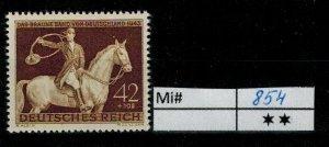 Deutschland Reich TR02 DR Mi 854 1939 Reich Postfrisch ** MNH