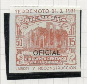 Nicaragua 1931 PROOF Issue Fine Mint Hinged 50c. Optd Official NW-14289