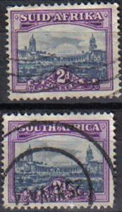 SOUTH AFRICA, 1930-33, used 2d, Bilingual pairs