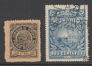 Argentina, Santa Fé, Forbin 1, 9. Rosario Municipal Tax Fiscals, 2 diff, sound