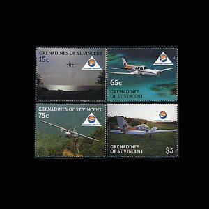 Grenadines St. Vincent MNH 591-4 Aircraft 1988