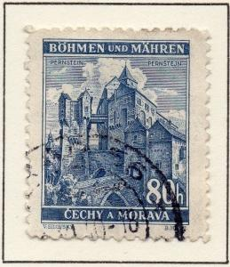 Germany Czechoslovakia 1939-40 Early Issue Fine Used 80h. 116402