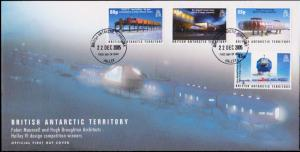 British Antarctic Territory Scott 357-360 Unaddressed.