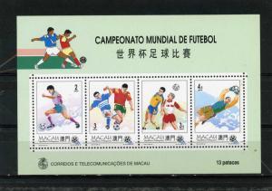 MACAO 1994 Sc#734a SOCCER WORLD CUP USA S/S MNH