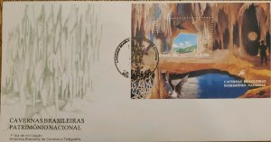 A) 1996, BRAZIL, CAVERNS NATIONAL HERITAGE, FIRST DAY COVER