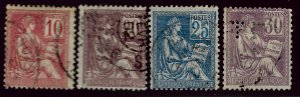 France SC#116, 118-120 Used Fine hr...Worth a Close look!!