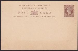 TRINIDAD QV 1d postcard fine unused.........................................5393
