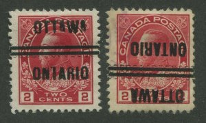 CANADA PRECANCEL OTTAWA 1-106, 1-106-I