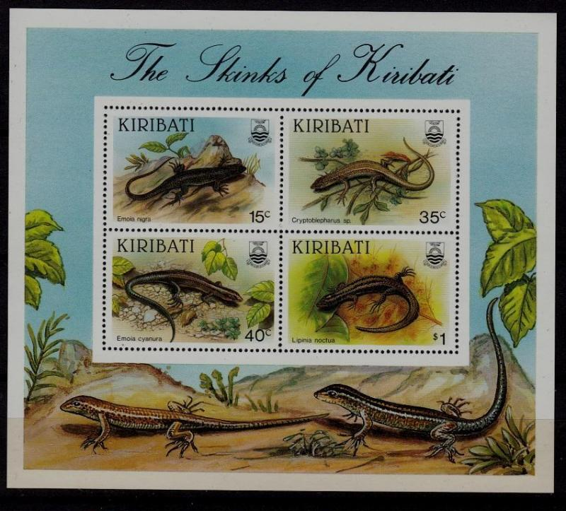 Kiribati MNH S/S 494a Skinks Of Kiribati Lizards