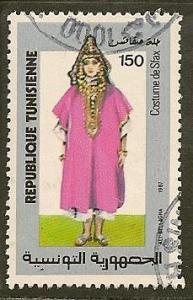 Tunisia  Scott    928      Folk Costume       Used
