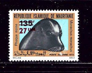Mauritania C145 MNH 1973 surcharge
