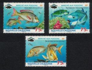 New Caledonia Fish 3v SG#1461-1463 MI#1489-1491