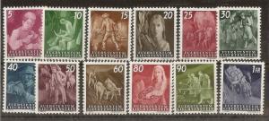 Liechtenstein 1951 Country Workers SG287-298 MNH Cat£275