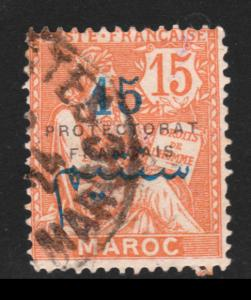 French Morocco 1917 Sc# 43 French Offices Abroad - USED