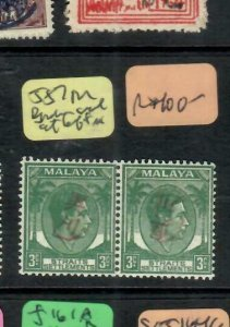 MALAYA JAPANESE OCCUPATION OKUGAWA (PP1301B)  3C PR L STAMP BROKE SEAL SGJ57 MOG