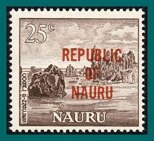 Nauru 1968 Independence, Coral Pinnacle, 25c MNH #81,SG89