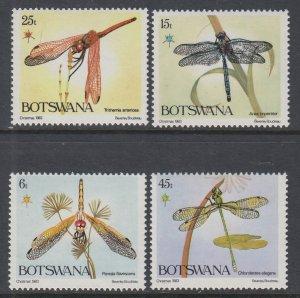 Botswana 337-340 Dragonflies MNH VF