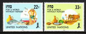 United Nations MNH 519-20 World Without Hunger 1988