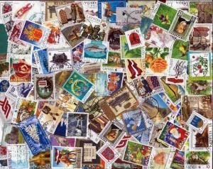 Latvia Stamp Collection - 150 Different Stamps,  Post 1991