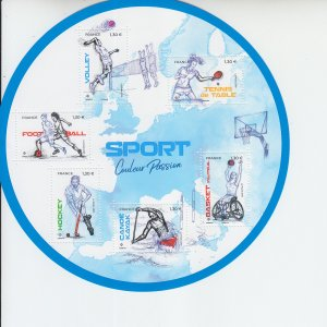 2019 France Sport Color Passion MS6 CSS (Scott NA) MNH
