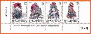 [E73] Albania 2012, 100 anniversary of indipendence, Mi3411-14, MNH