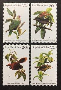 Palau 1983 #5-8, Birds, MNH.