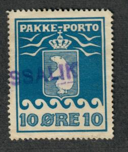 Greenland Sc#Q4a Used/VF, Parcel Post Perf 12 1/2, Cv. $550