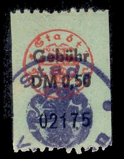 Germany - 0.50 DM Municipal Revenue Stamp
