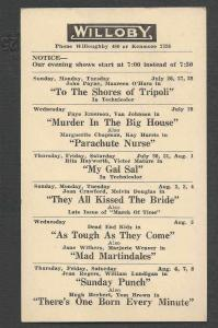 1940 WILLOBY THEATRE OH MY GAL SAL R HAYWORTH & V MATURE SEE INFO
