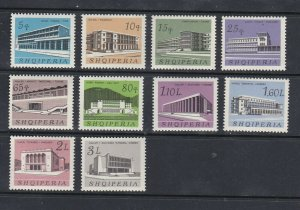 ALBANIA - 1965 - BUILDINGS - SCOTT 868 TO 877 - MNH