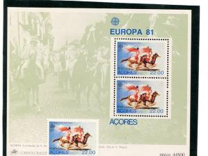 Portugal Azores Europa  1981 Mint  VF NH   - Lakeshore Philatelics