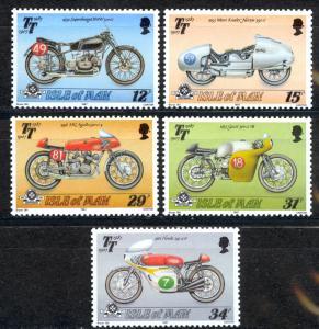Isle of Man Sc# 335-339 MNH 1987 Motorcycles