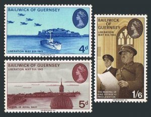 Guernsey 30-32,MNH. Liberation of the Channel Islands-25,1970.Liberation fleet,