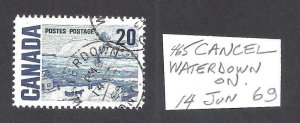 CANADA CDS TOWN CANCEL WATERDOWN ONTARIO, SCOTT 464i (NF) VF USED (BS16068)