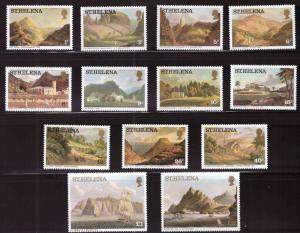 Saint Helena Scott 298-310  MH* stamp set perf 14, 1976