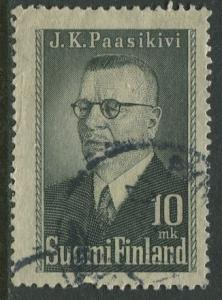 Finland - Scott 263 -  -1947-Pres.Juho Passikivi- Used - Single 10m Stamp