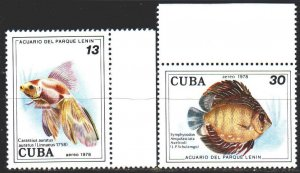 Cuba. 1978. 2307-8 from the series. Fish. MNH.