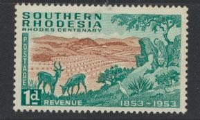 Southern Rhodesia  SG 72  Mint very light trace of Hinge
