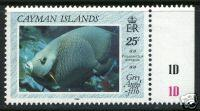 CAYMAN ISLANDS Sc# 619 MNH FVF PL# 1D 25ct Fish
