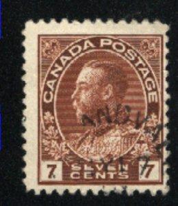 Canada #114   used     PD